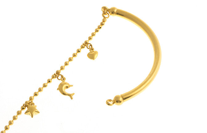 22ct Yellow Gold Ladies Half Bracelet Half Bangle (10.1g) LBR-1141