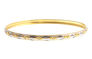 22ct Gold Two Tone Bangles (B-1422) - Single