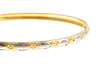 2 x Hand Finished 22ct Gold Two Tone Bangles (B-1422) (online price only)
