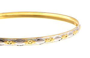 Four Hand Finished 22ct Yellow Gold Bangles with White Rhodium Plating (G1767), Minar Jewellers - 4