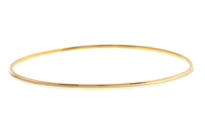 Hand Finished 22ct Yellow Gold Bangle (G1993), Minar Jewellers - 1
