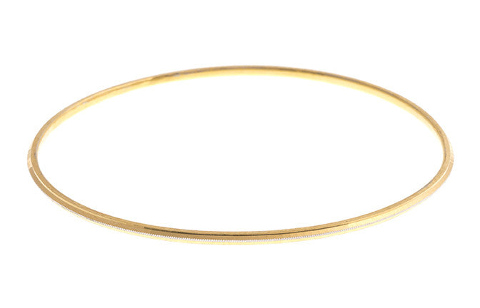 Hand Finished 22ct Yellow Gold Bangle (G1993), Minar Jewellers - 2