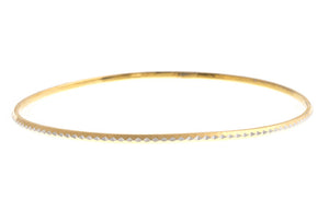 22ct Gold Two Tone Bangle with rhodium design (7.5g) (B-1430)_1