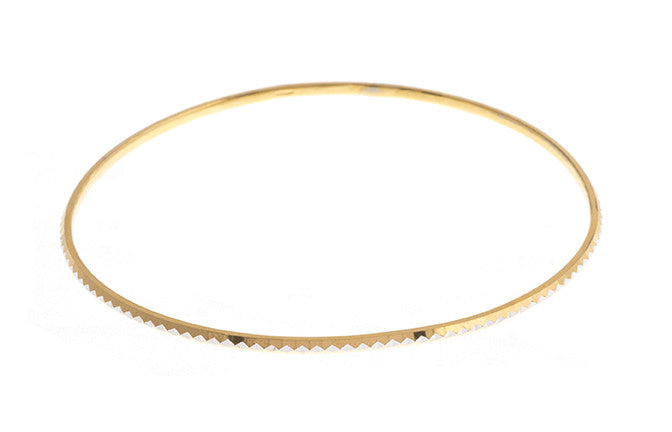 22ct Gold Two Tone Bangle with rhodium design (7.5g) (B-1430)_4