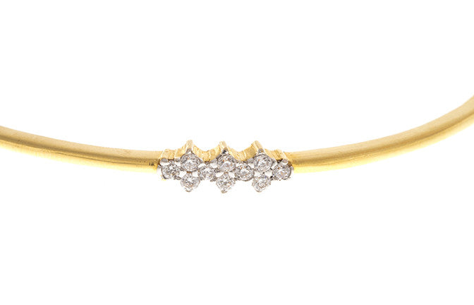 Stone Set 22ct Yellow Gold & Cubic Zirconia Bangle, Minar Jewellers - 3