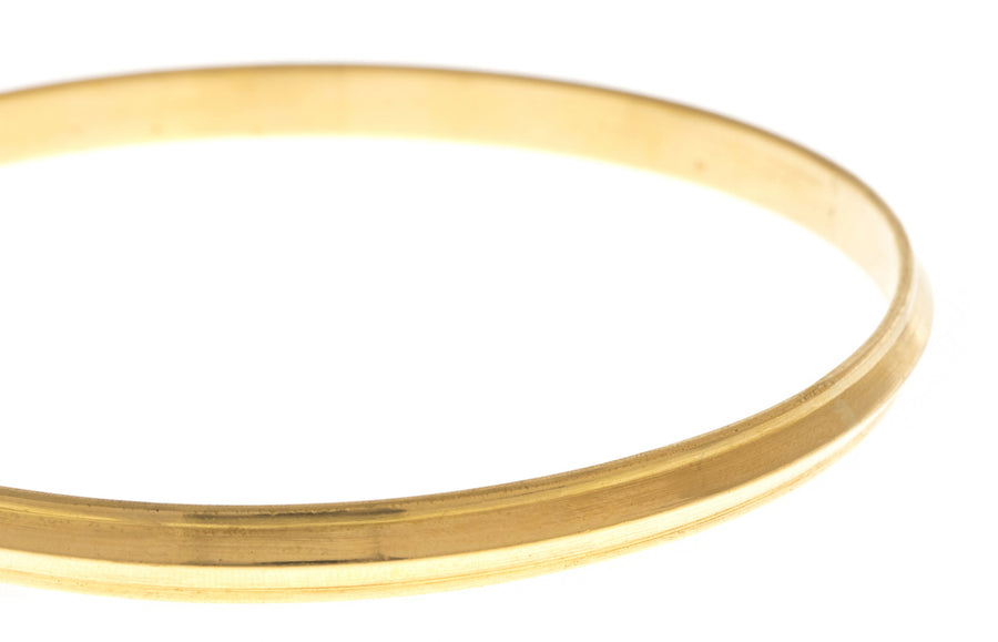 Hand Finished 22ct Yellow Gold 'Kada' Bangle, Minar Jewellers - 1