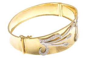 Stone Set 18ct Yellow Gold Cubic Zirconia Bangle, Minar Jewellers - 4