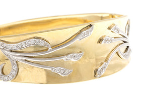 Stone Set 18ct Yellow Gold Cubic Zirconia Bangle, Minar Jewellers - 5