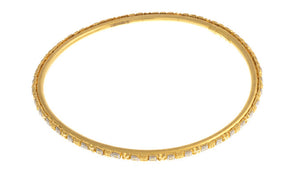 Four Hand Finished 22ct Yellow Gold Bangles with White Rhodium Plating (G1945), Minar Jewellers - 5