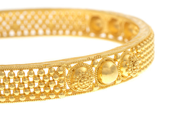 Hand Finished 22ct Yellow Gold Bangle (G1939), Minar Jewellers - 1
