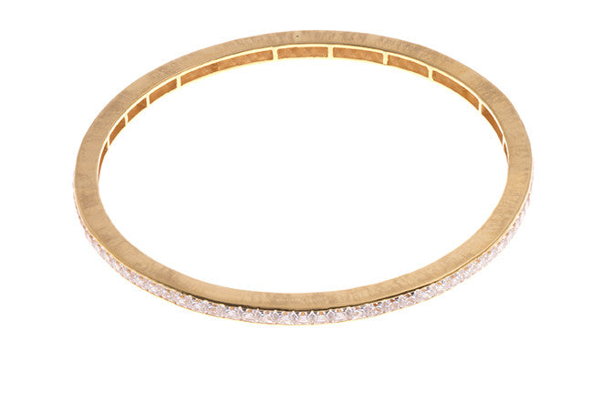 Stone Set 22ct Gold and Cubic Zirconia Bangles (B-1555) - From Above