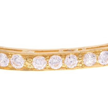 Three Stone Set 22ct Yellow Gold & Cubic Zirconia Bangles (G1821), Minar Jewellers - 5