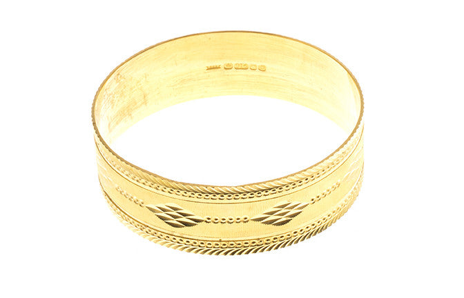 Hand Finished 22ct Yellow Gold Bangle (G1907), Minar Jewellers - 2