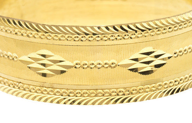Hand Finished 22ct Yellow Gold Bangle (G1907), Minar Jewellers - 3