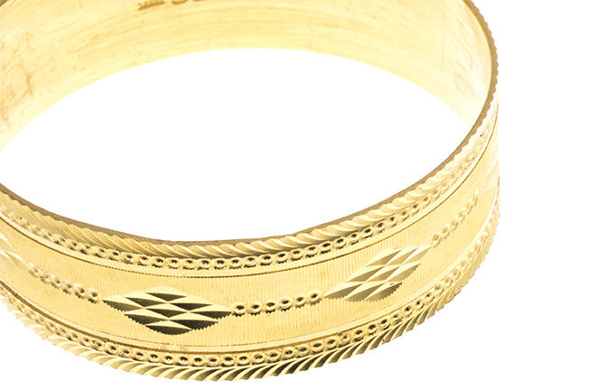 Hand Finished 22ct Yellow Gold Bangle (G1907), Minar Jewellers - 4
