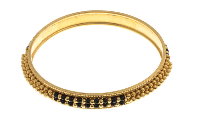 Hand Finished 22ct Yellow Gold Bangle (G1819), Minar Jewellers - 2