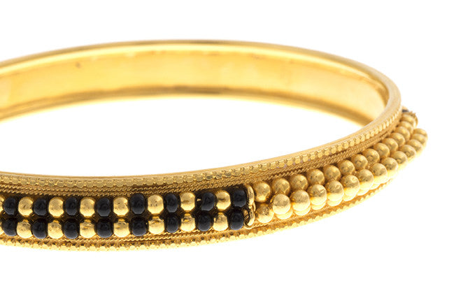 Hand Finished 22ct Yellow Gold Bangle (G1819), Minar Jewellers - 4