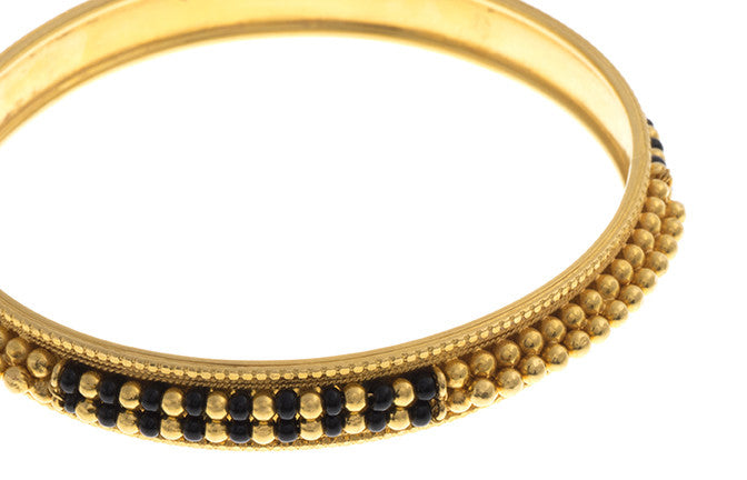 Hand Finished 22ct Yellow Gold Bangle (G1819), Minar Jewellers - 5