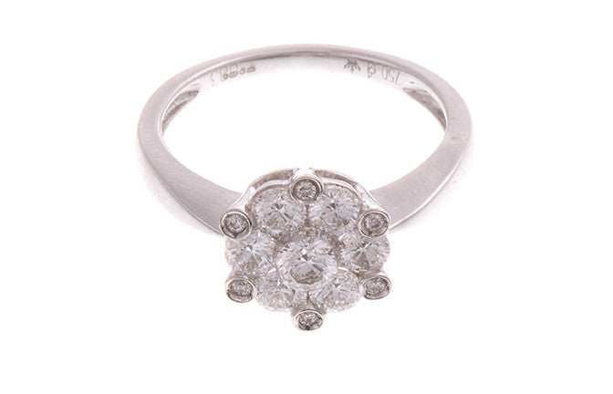 18ct White Gold Diamond Dress Ring, Minar Jewellers - 4
