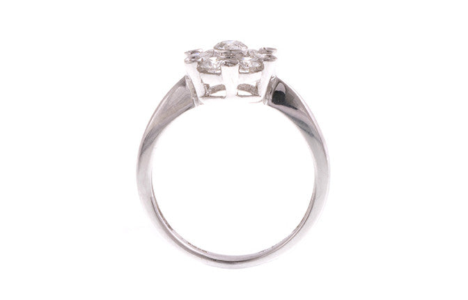 18ct White Gold Diamond Dress Ring, Minar Jewellers - 5