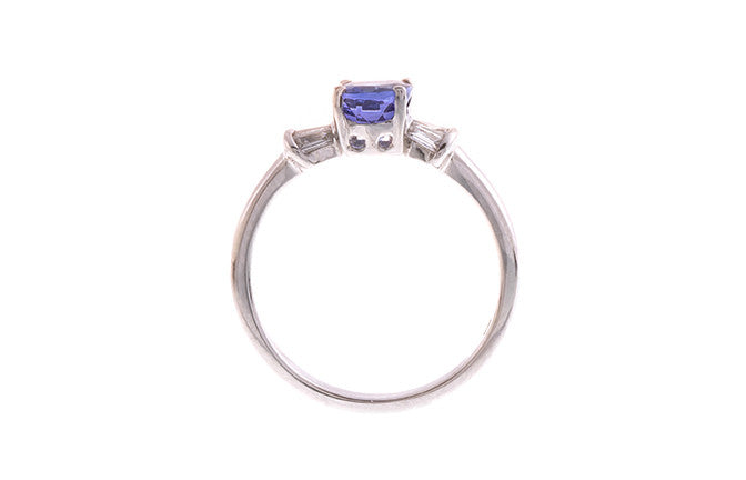 18ct White Gold Tanzanite & Diamond Dress Ring, Minar Jewellers - 5