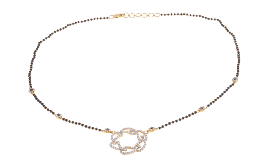 22ct Gold Cubic Zirconia Mangal Sutra Necklace (MS-2081)