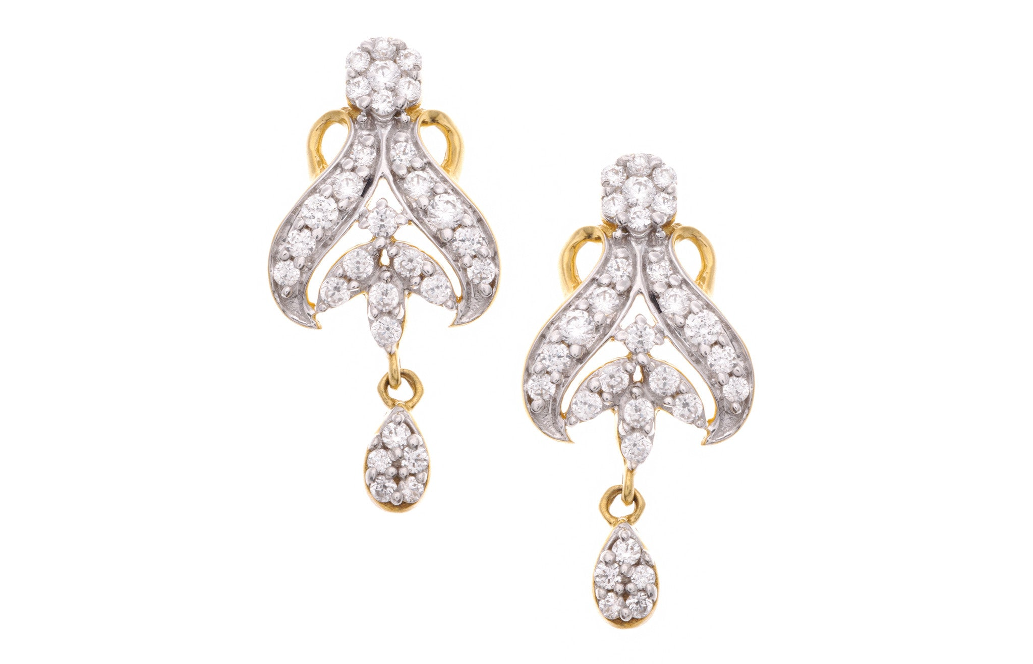 22ct Yellow Gold Cubic Zirconia Mangal Sutra & Earring Set, Minar Jewellers - 8