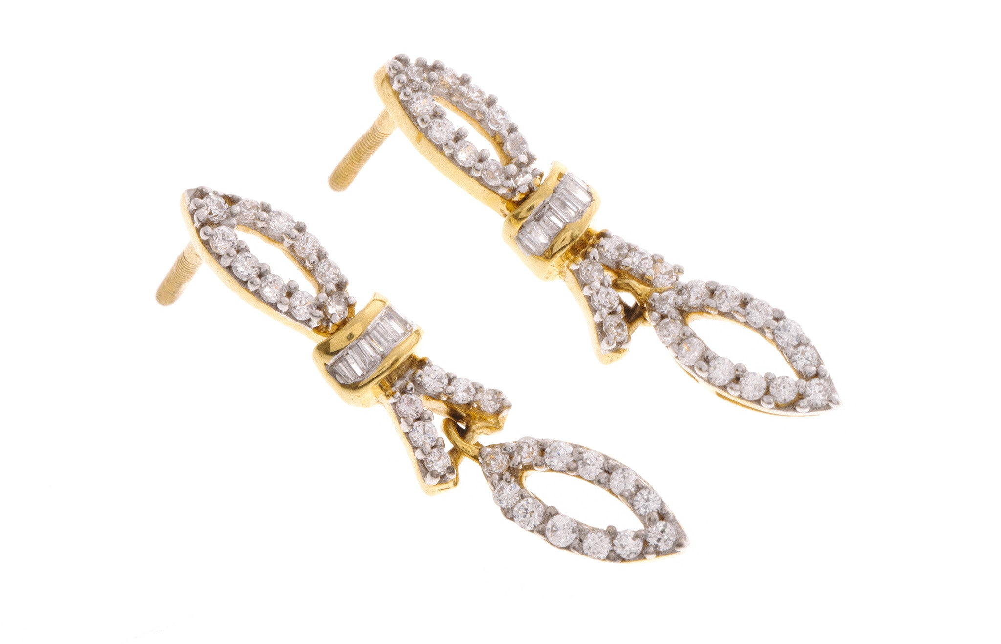 22ct Yellow Gold Cubic Zirconia Mangal Sutra & Earring Set, Minar Jewellers - 6