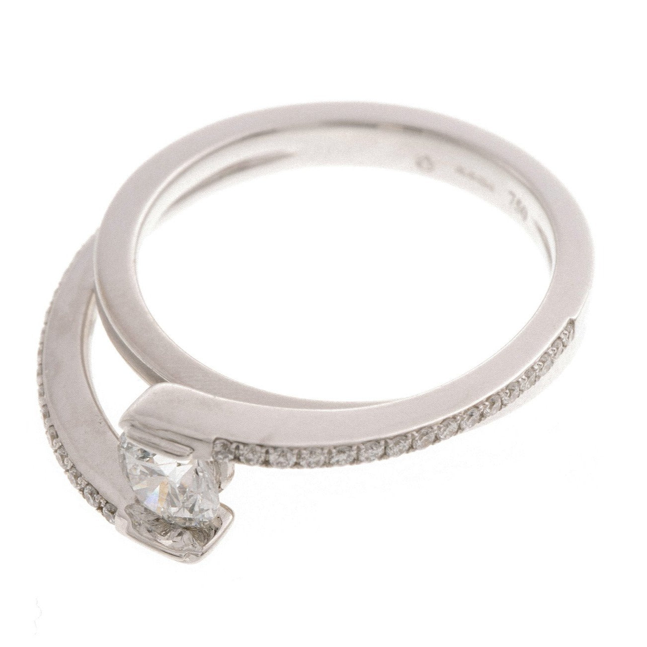 18ct White Gold Diamond Engagement Ring, Minar Jewellers - 2