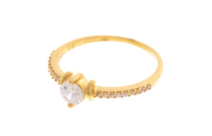 22ct Yellow Gold Cubic Zirconia Ring, Minar Jewellers - 1