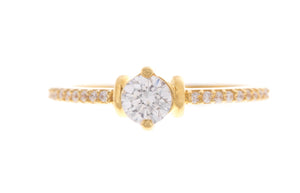 22ct Yellow Gold Cubic Zirconia Ring, Minar Jewellers - 2