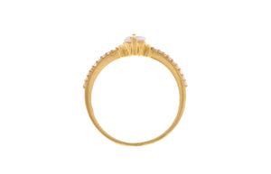 22ct Yellow Gold Cubic Zirconia Ring, Minar Jewellers - 5