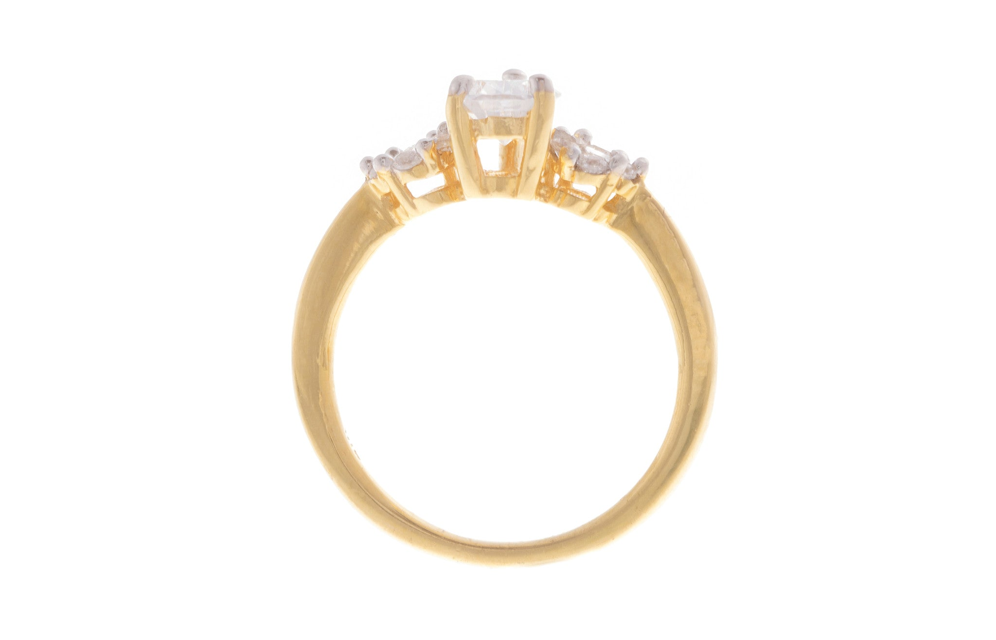 22ct Yellow Gold Cubic Zirconia Dress Ring, Minar Jewellers - 4