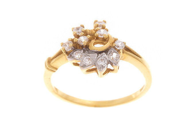 22ct Yellow Gold Cubic Zirconia Dress Ring (LR-2313)