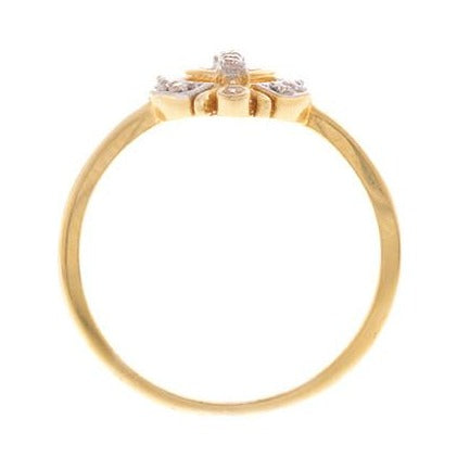 22ct Yellow Gold Cubic Zirconia Khanda Ring, Minar Jewellers - 5