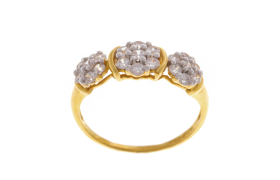 22ct Yellow Gold Cubic Zirconia Dress Ring (LR9256)