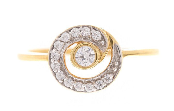 22ct Yellow Gold Cubic Zirconia Dress Ring, Minar Jewellers - 2