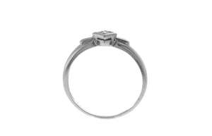 18ct White Gold Cubic Zirconia Engagement Ring (LR-2353)