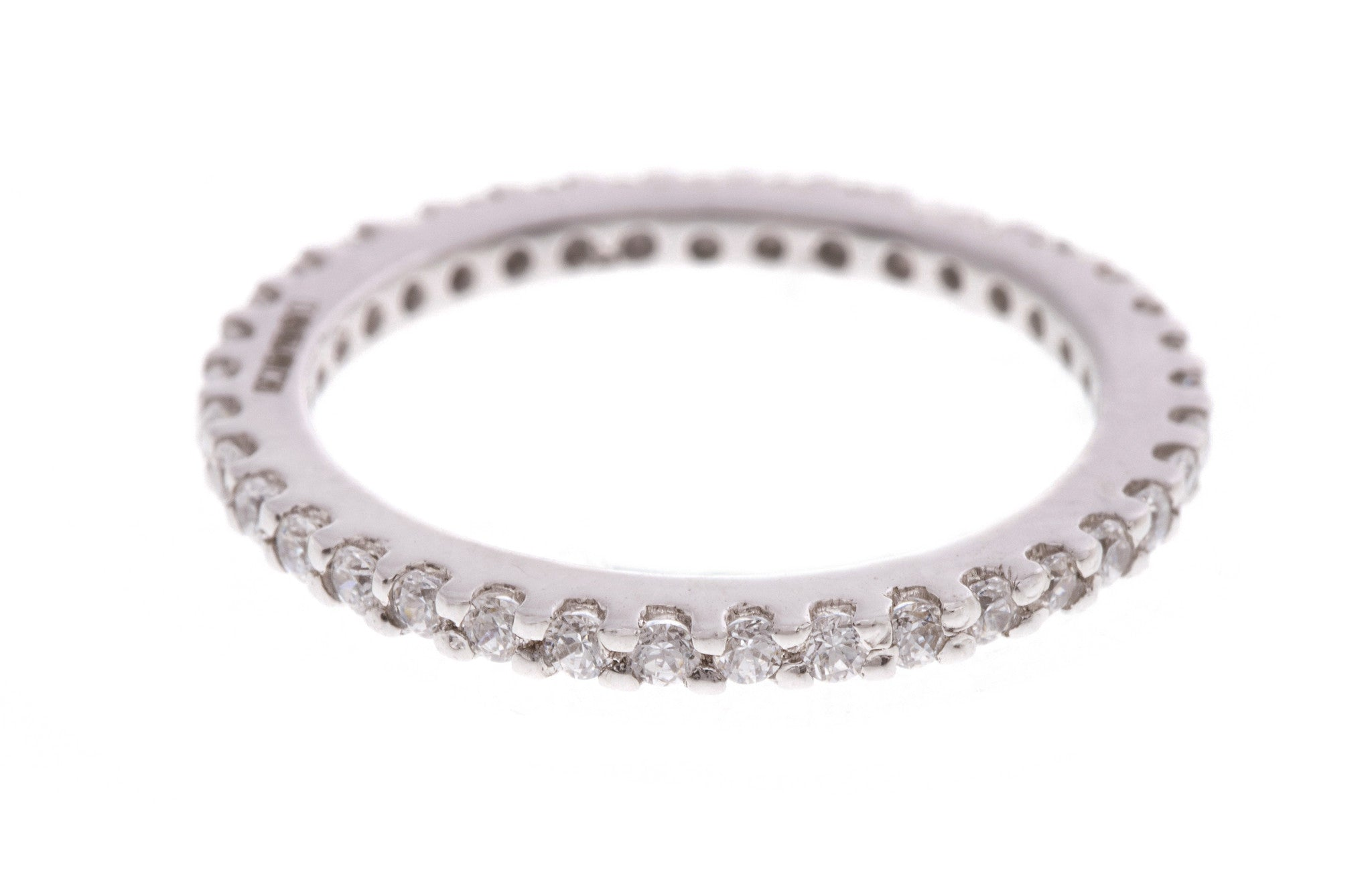 18ct White Gold Cubic Zirconia Eternity Ring, Minar Jewellers - 1
