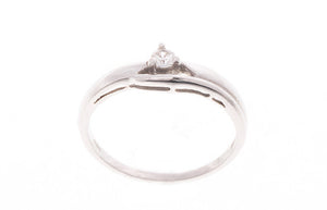 18ct White Gold Cubic Zirconia Dress Ring (LR-2412)