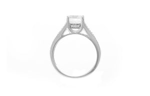 18ct White Gold Cubic Zirconia Engagement Ring LR-2428