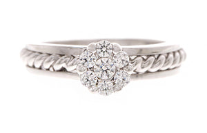 18ct White Gold Cubic Zirconia Dress Ring (LR-2444)