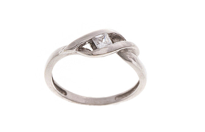 18ct White Gold Cubic Zirconia Dress Ring (LR-2451)