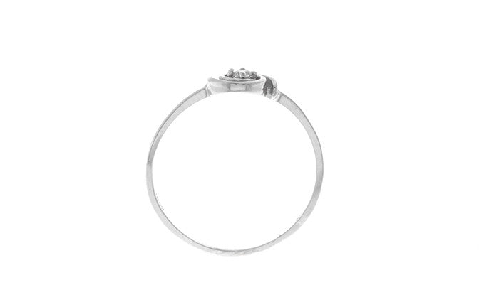 18ct White Gold Cubic Zirconia Dress Ring (LR-2456)