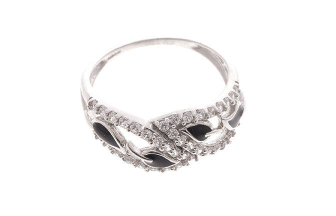 18ct White Gold Cubic Zirconia Dress Ring (LR-2457)