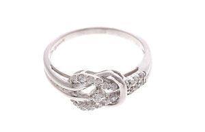 18ct White Gold Cubic Zirconia Dress Ring (LR-2479)