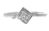 18ct White Gold Cubic Zirconia Dress Ring (LR-2522)