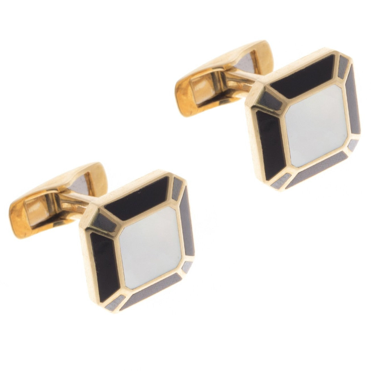 18ct Yellow Gold Men's Cufflinks, Minar Jewellers - 1