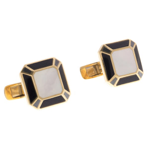 18ct Yellow Gold Men's Cufflinks, Minar Jewellers - 3
