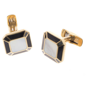 18ct Yellow Gold Men's Cufflinks, Minar Jewellers - 5